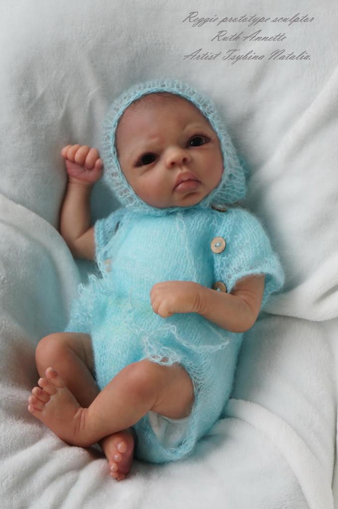 Reggie Vinyl Reborn Doll Kit by Ruth Annette