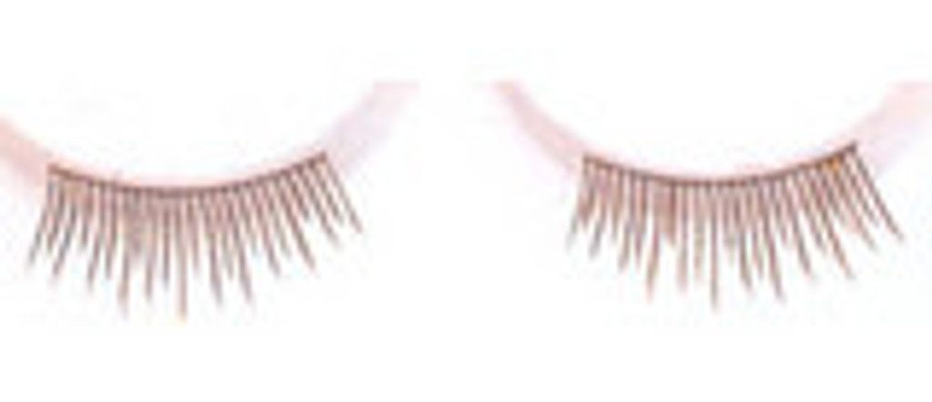 Single Eyelashes in Light Brown