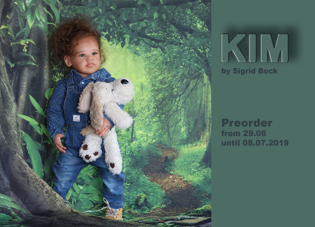 Kim Reborn Vinyl Doll Kit by Sigrid Bock