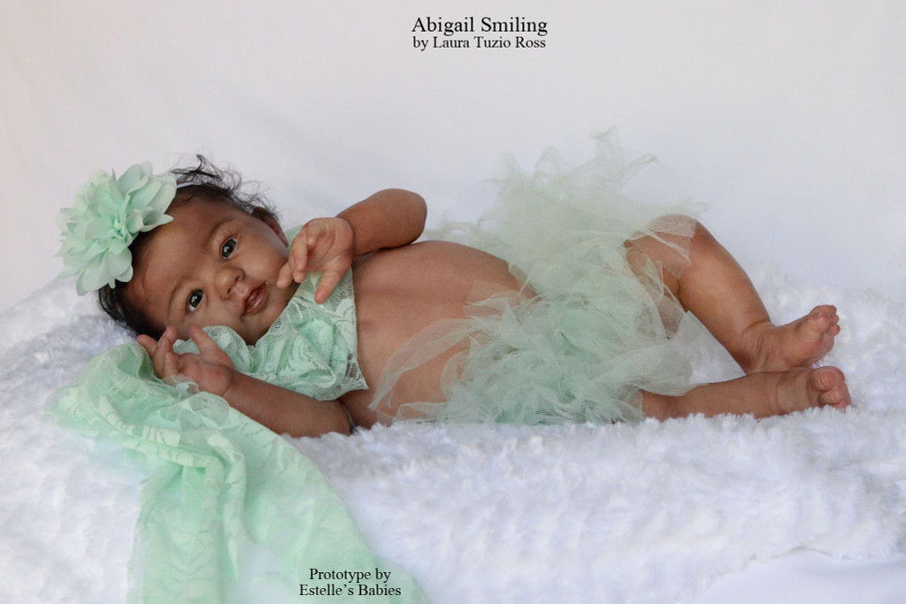 Abigail Smiling Reborn Vinyl Doll Kit by Laura Tuzio Ross