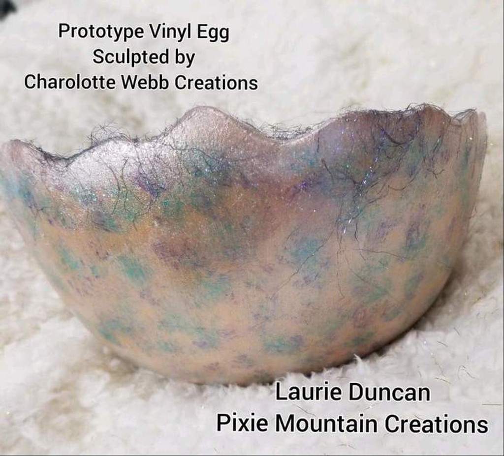 Vinyl Egg Display Prop for Doll and Reborn Presentations by Charlotte Webb