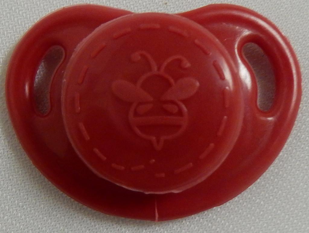 """HoneyBug CutiePie Micro Preemie Pacifier For 10-13"""" Dolls-Red"""