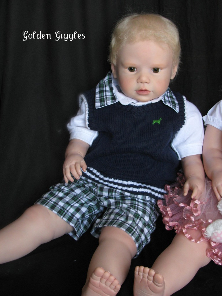 Lilly Reborn Vinyl Doll Kit with Bent Legs by Regina Swialkowski
