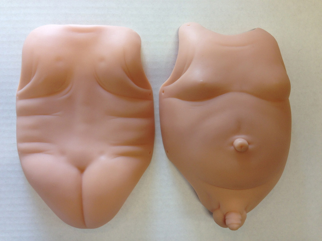 """Tummy & Back Plates - Male for 18"""" Doll Kits"""