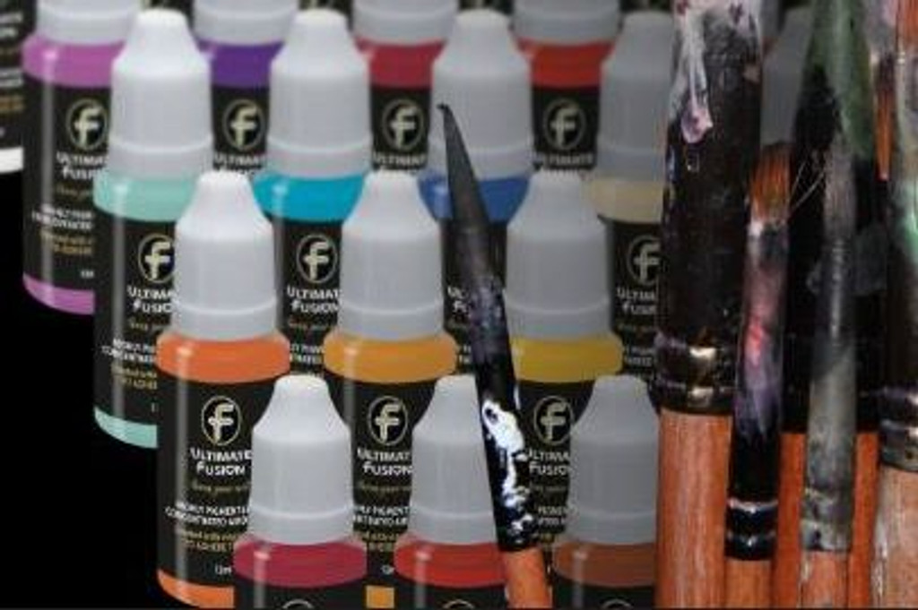 Ultimate Fusion All in One Air Dry Paint Fluorescent Pink 12ml Bottle (.4 ounce)