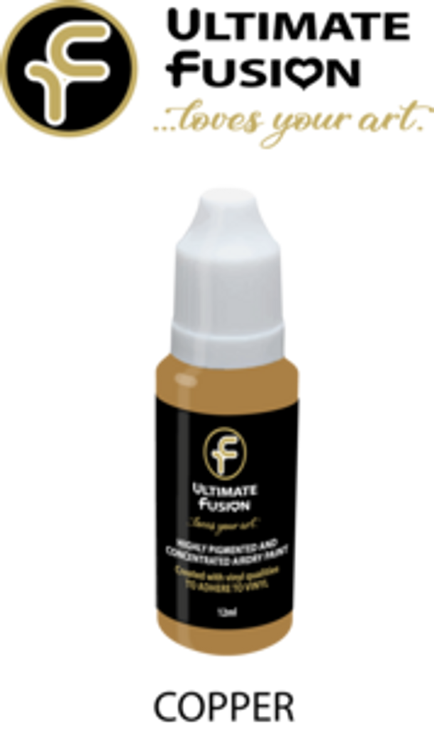 Ultimate Fusion All in One Air Dry Paint Copper 12ml Bottle (.4 ounce)