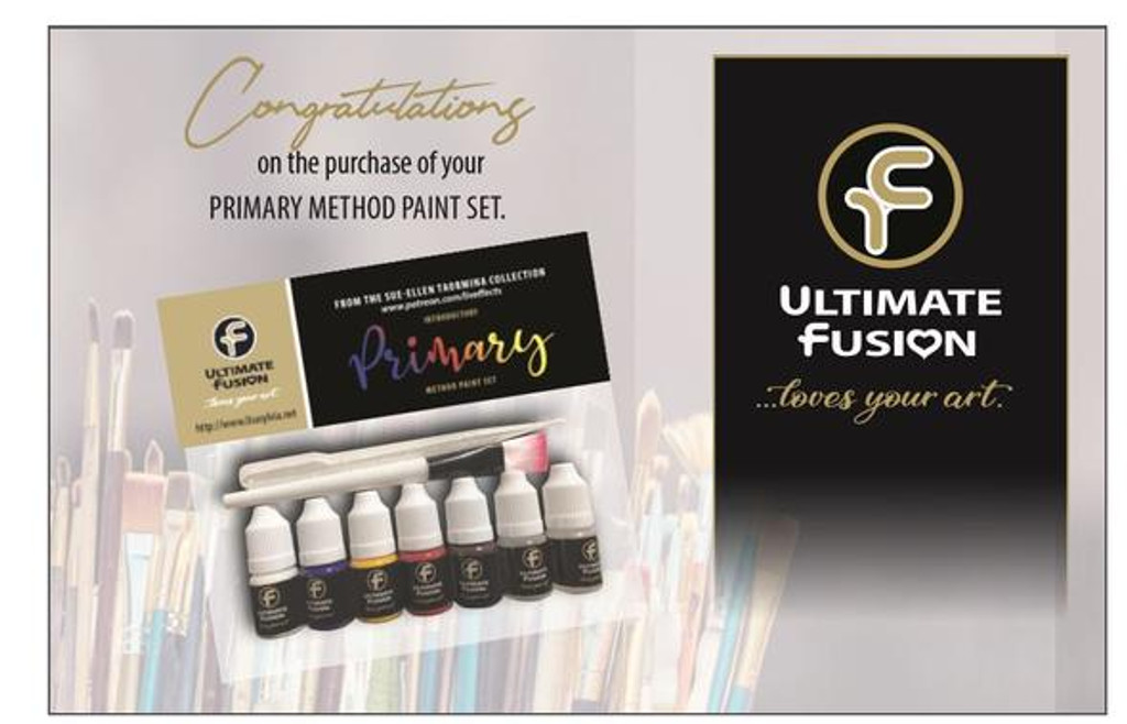 Ultimate Fusion Primary Method Mixing set by Sue-Ellen Taormina with New Kabuki Brush Included!