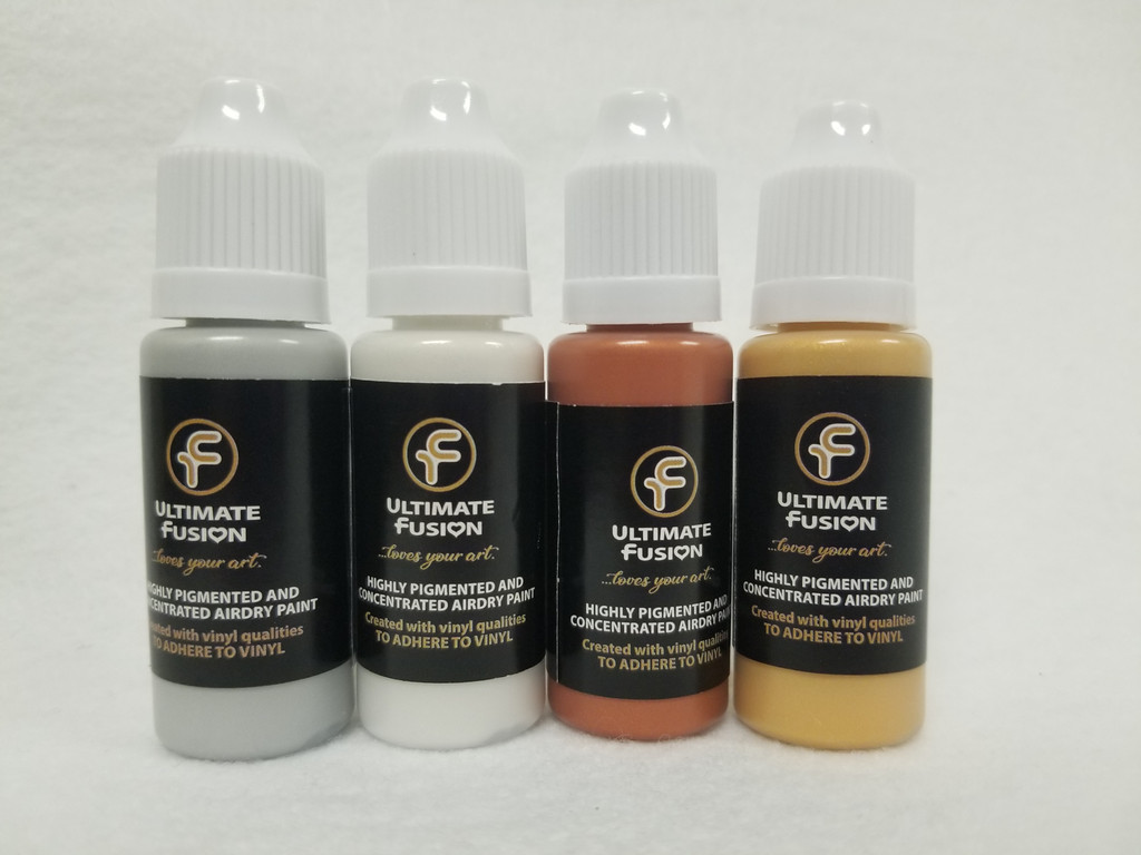 Ultimate Fusion 4 Piece Set of Fantasy Metallic Colors Full Sized 12ml Bottles (.4 ounce)