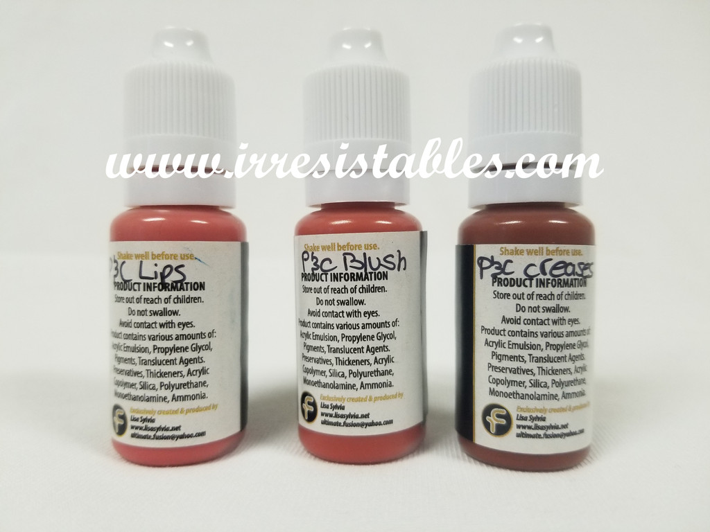 Ultimate Fusion 3 Piece Set of Peaches & Cream Colors Full Sized 12ml Bottles (.4 ounce)