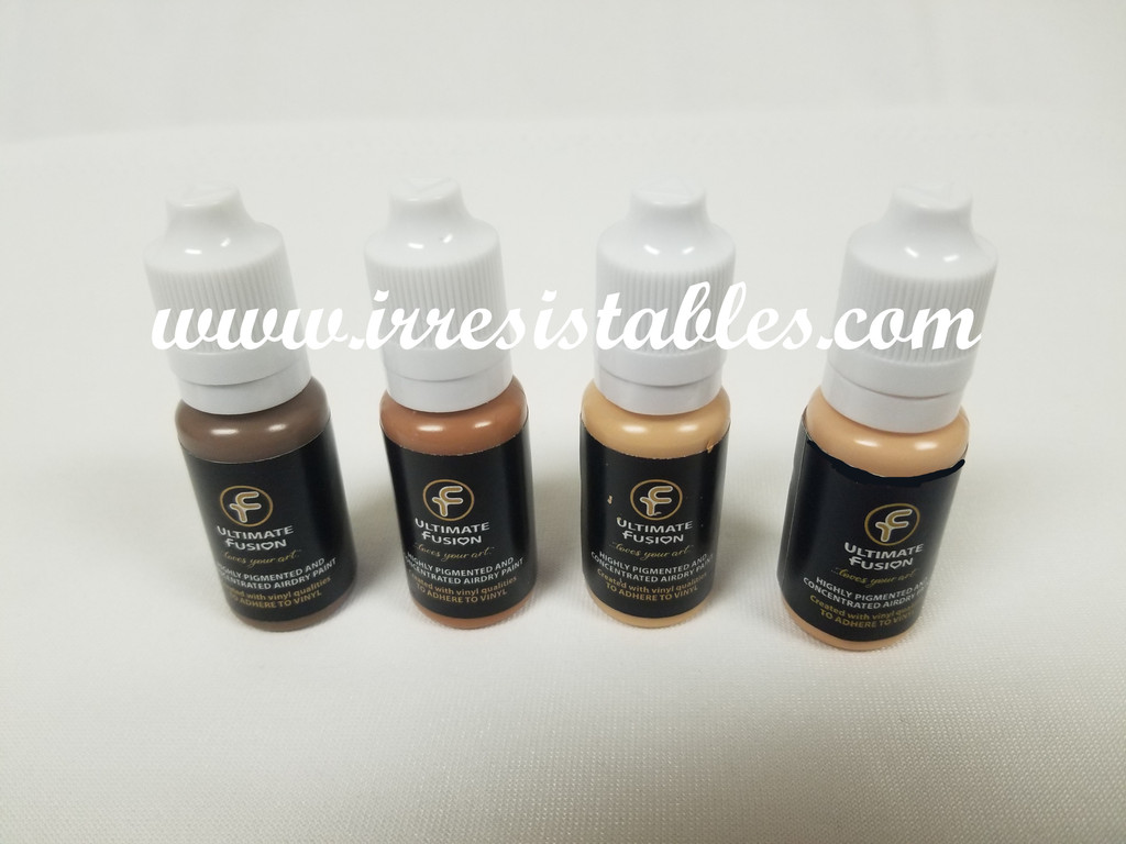 Ultimate Fusion 4 Piece Set of Blonde Hair Colors Full Sized 12ml Bottles (.4 ounce)