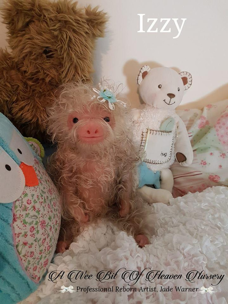 Izzy the Baby Sloth Silicone by Jade Warner Full Body Doll Kit Unpainted