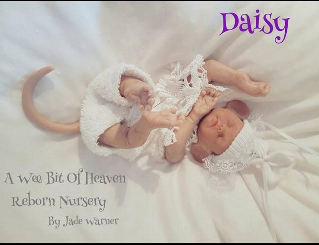Daisy the Baby Mouse by Jade Warner Silicone Doll Kit Unpainted