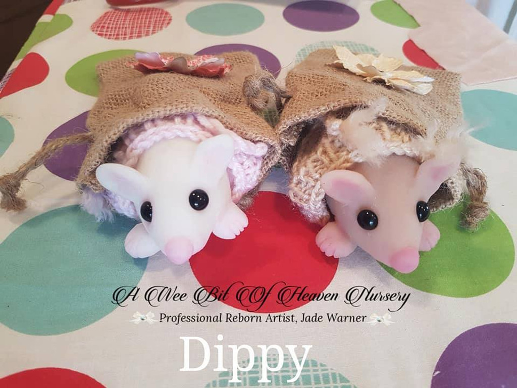 Dippy the Mini Mouse by Jade Warner  Silicone Full Body Doll Kit Unpainted