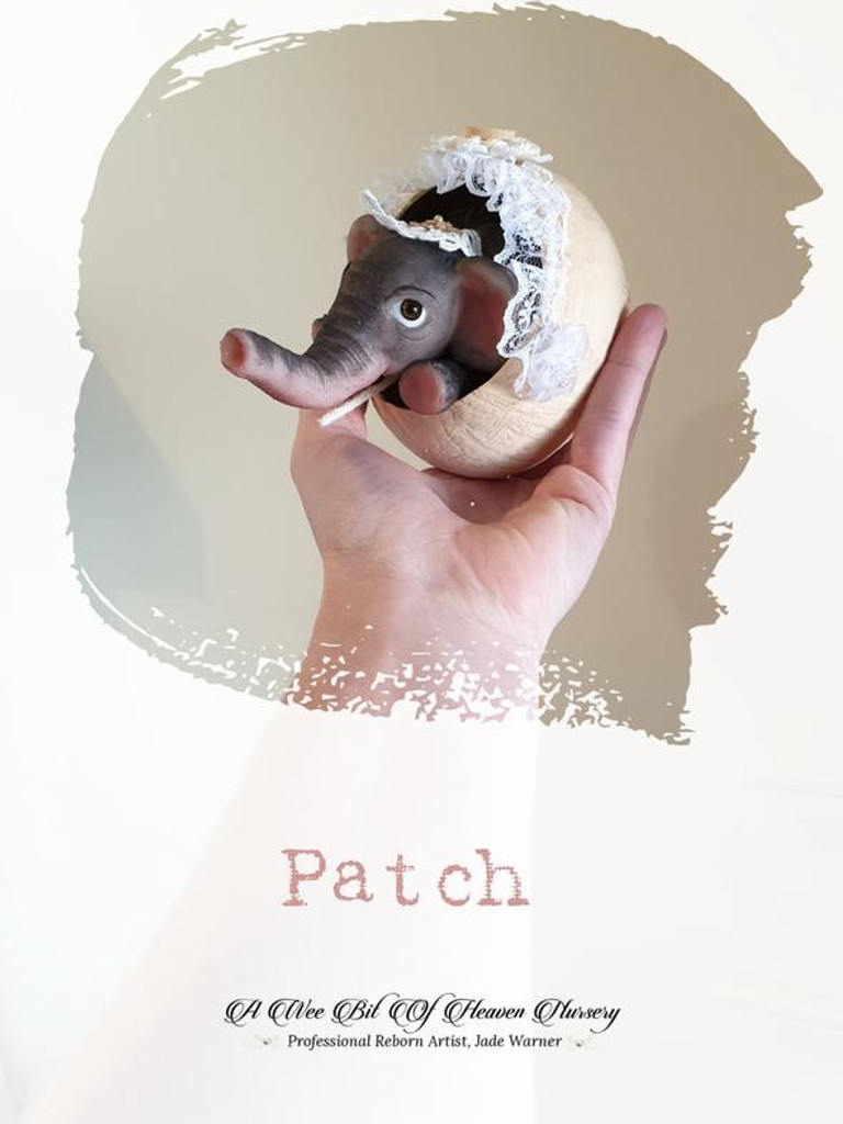 Patch the Mini Elephant by Jade Warner  Silicone Full Body Doll Kit Unpainted