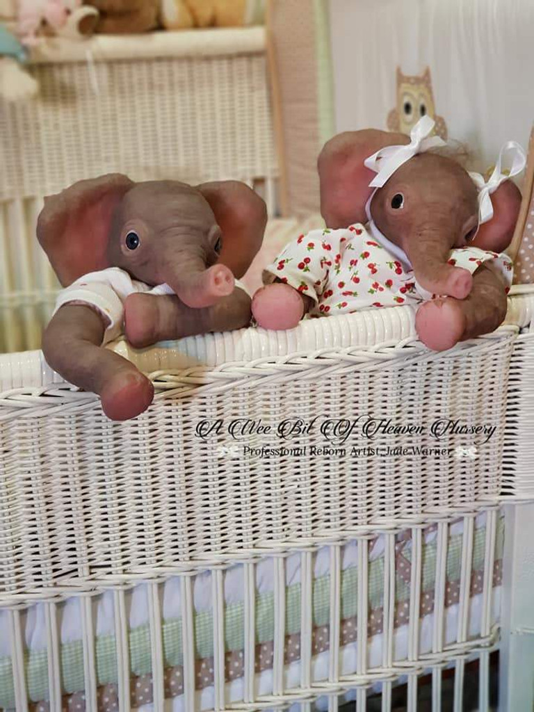 Peaches the Elephant by Jade Warner Silicone Doll Kit Unpainted