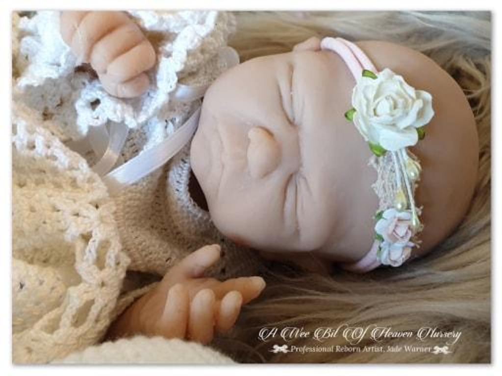 Violet by Jade Warner Solid Silicone Doll Head Unpainted - HEAD ONLY