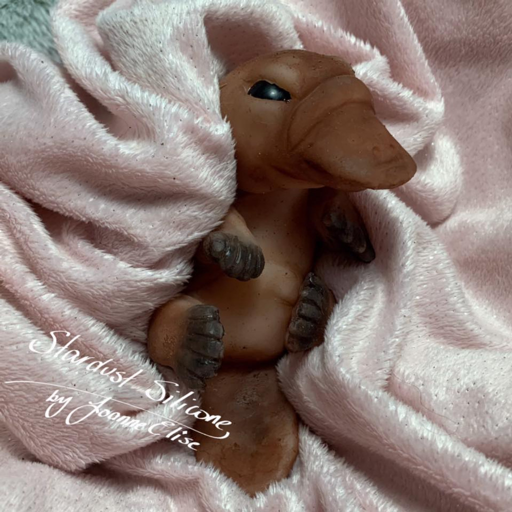 Snuggle the Baby platypus by Joanne Elise Silicone Full Body Doll Kit Unpainted