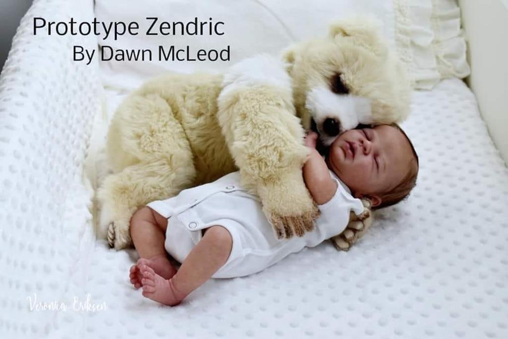 Zendric  Reborn Vinyl Doll Kit by Dawn Murray McLeod