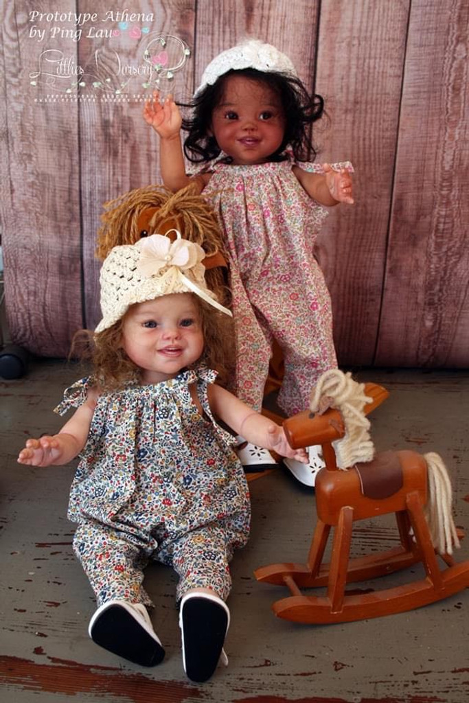 Athena Mini Toddler Reborn Vinyl Doll Kit by Ping Lau