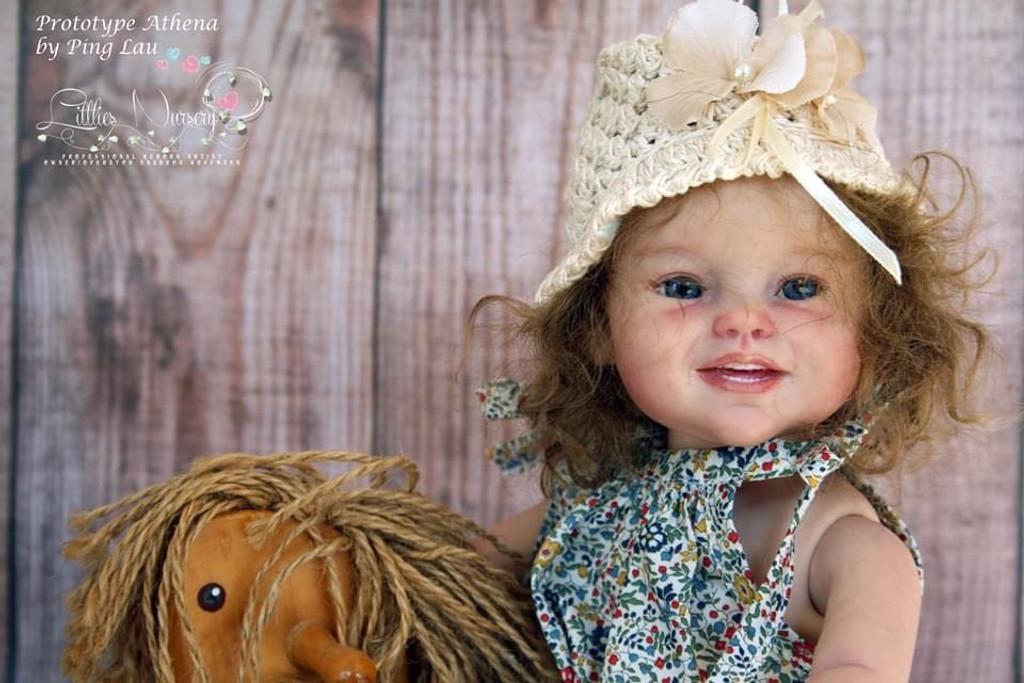 Athena Mini Toddler Reborn Vinyl Doll Kit by Ping Lau