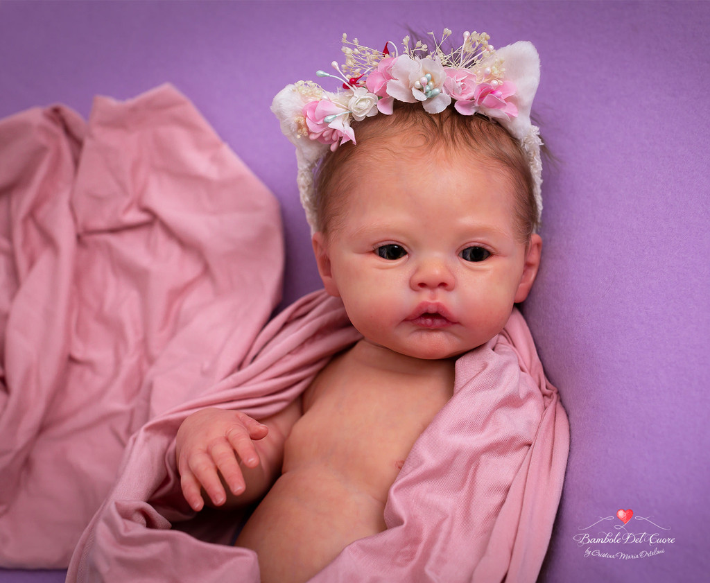 Meadow Reborn Vinyl Doll Kit by Andrea Arcello