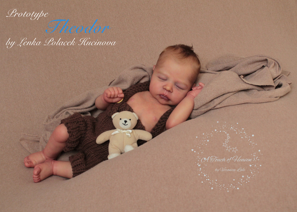 Theodor Reborn Vinyl Doll by Lenka Polacek Hucinova