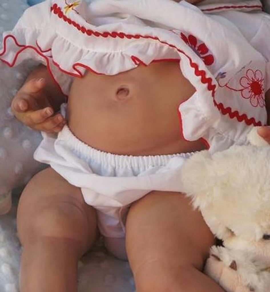 "Reborn Vinyl Girl Tummy Plate Fits 22-23"" Doll Kits by Ping Lau"