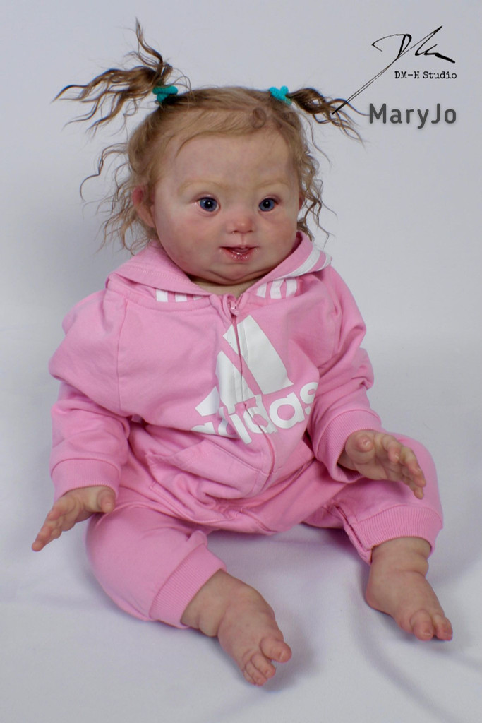 MaryJo Reborn Vinyl Toddler Doll Kit with Down Syndrome by Doris Moyers Hornbogen