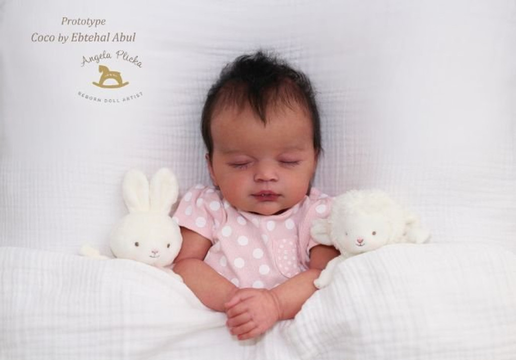 Coco Reborn Vinyl Doll Kit by Ebtehal Abul