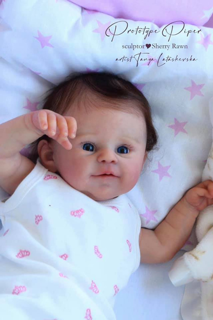 Piper Reborn Vinyl Doll Kit by Sherry Rawn FREE TUMMY PLATE INLCUDED WITH PRE-ORDERS!