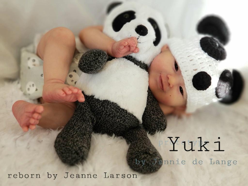 Yuki Reborn Vinyl Doll Head by Jannie De Lange - Head Only