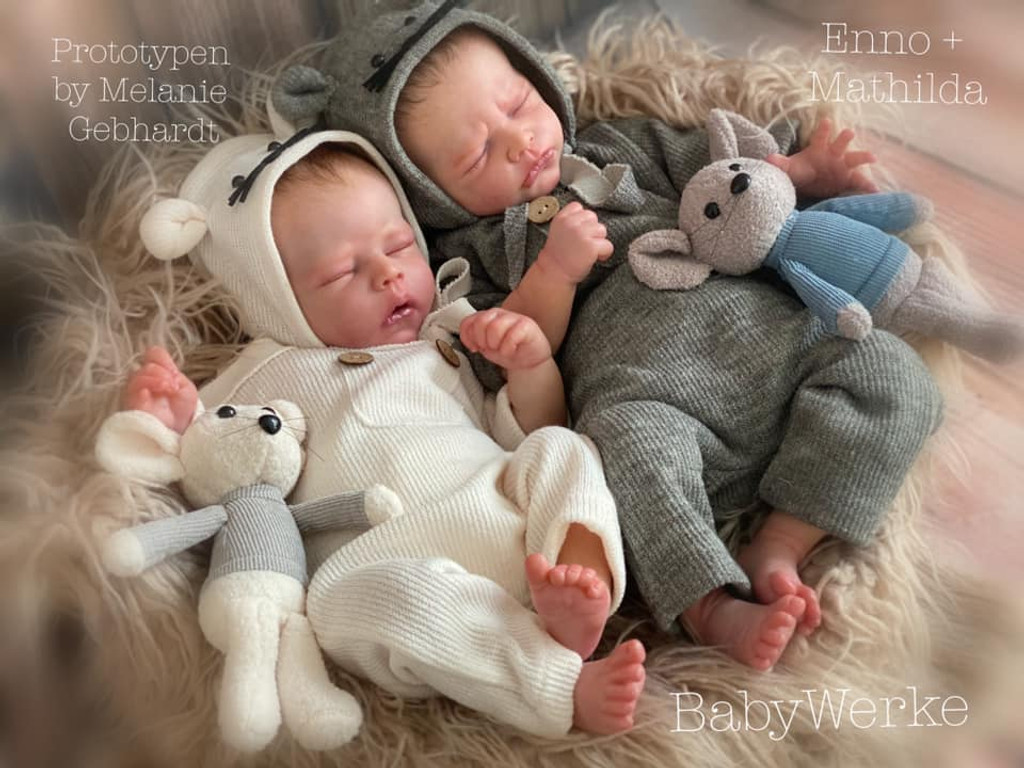 Enno and Mathilda Reborn Vinyl Doll Kit by Melanie Gebhardt