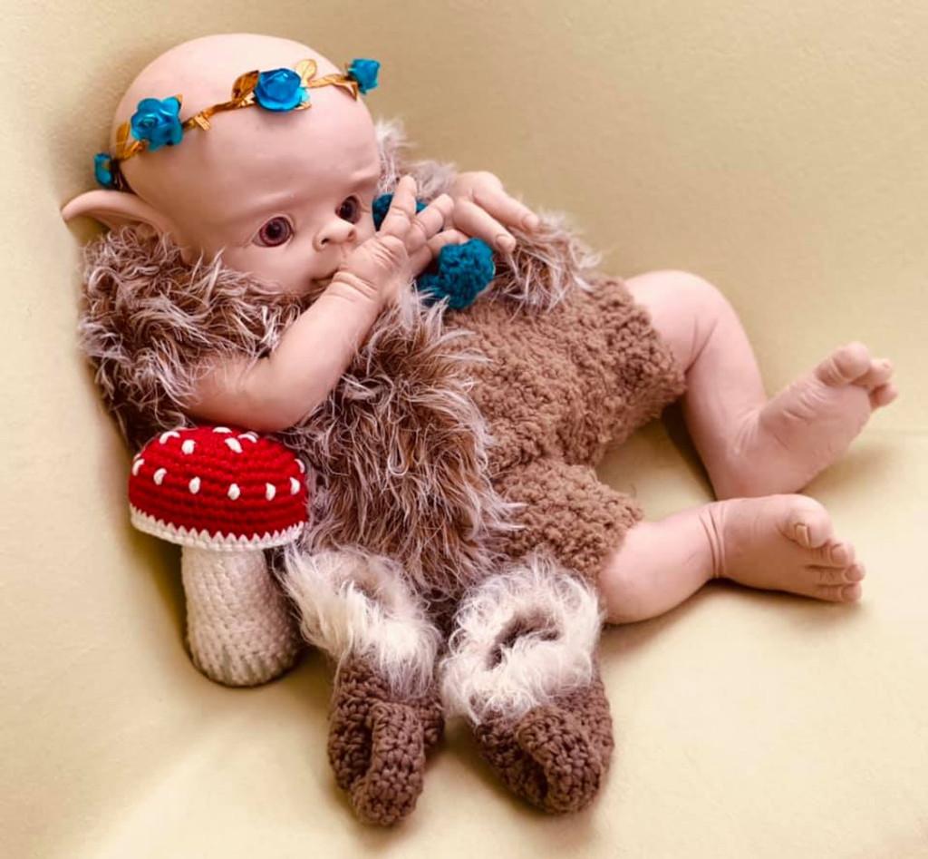 Tala The Elf Vinyl Reborn Doll Kit by Ruth Annette