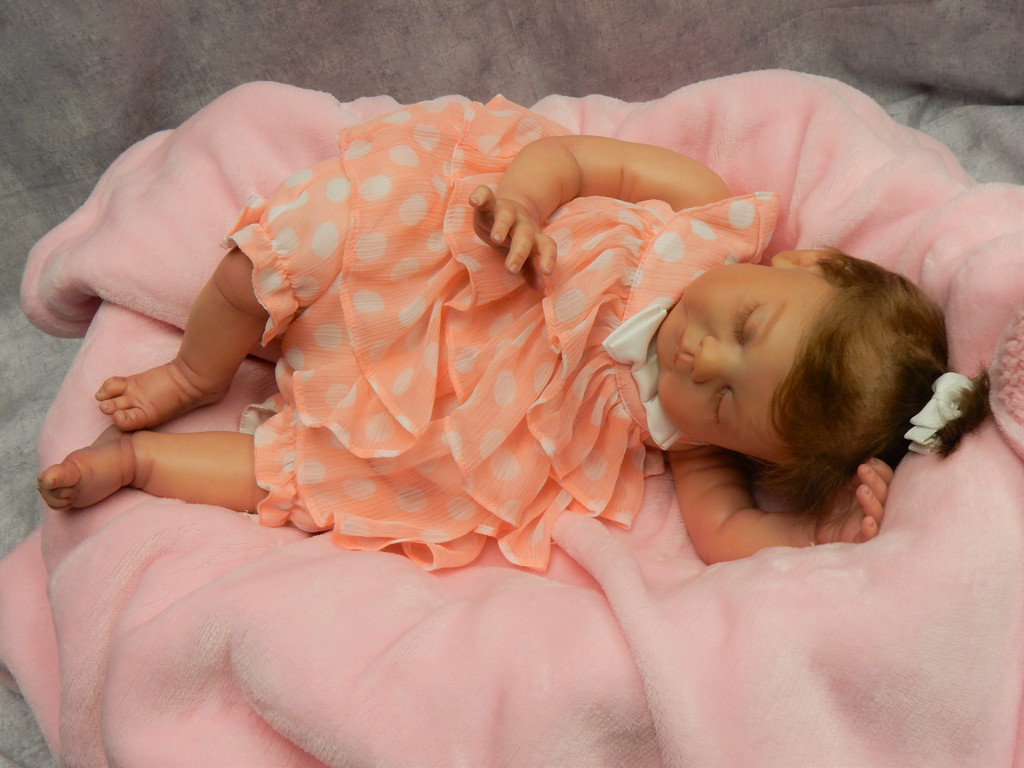 Blanca Reborn Finished Baby Girl Collectors Doll sculpted by Ping Lau