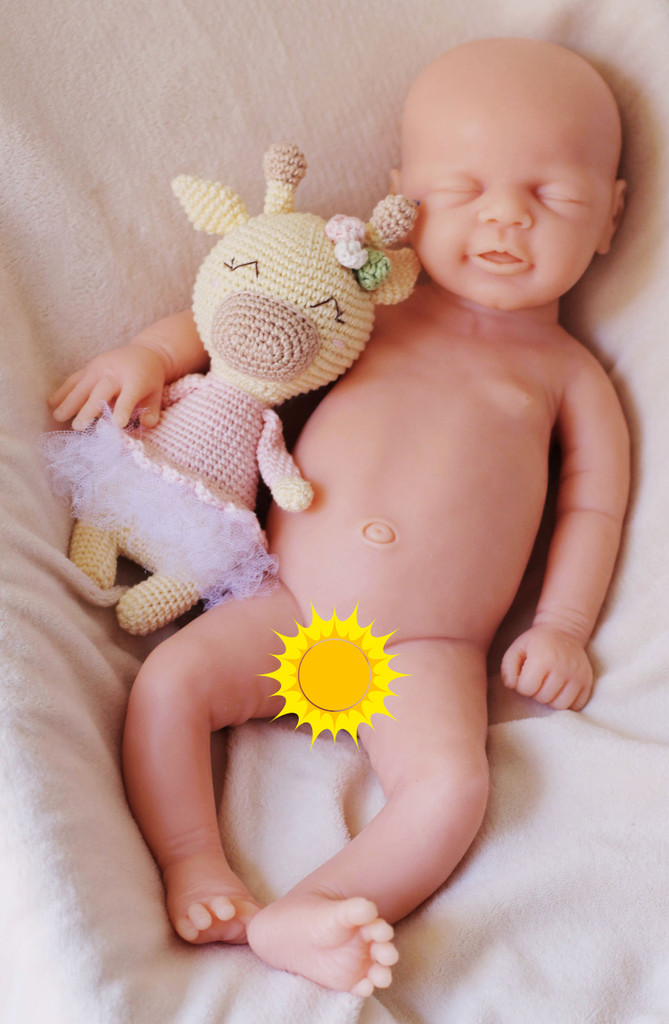 Leni by Ina Volprich Silicone Full Body Doll Kit Unpainted