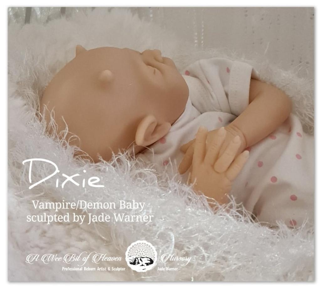 Dixie the Baby Vampire Reborn Vinyl Doll Kit by Jade Warner