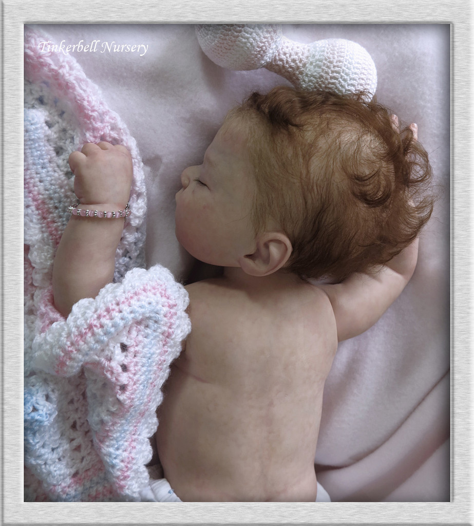Indra Asleep Reborn Vinyl Doll Kit by Reva Schick
