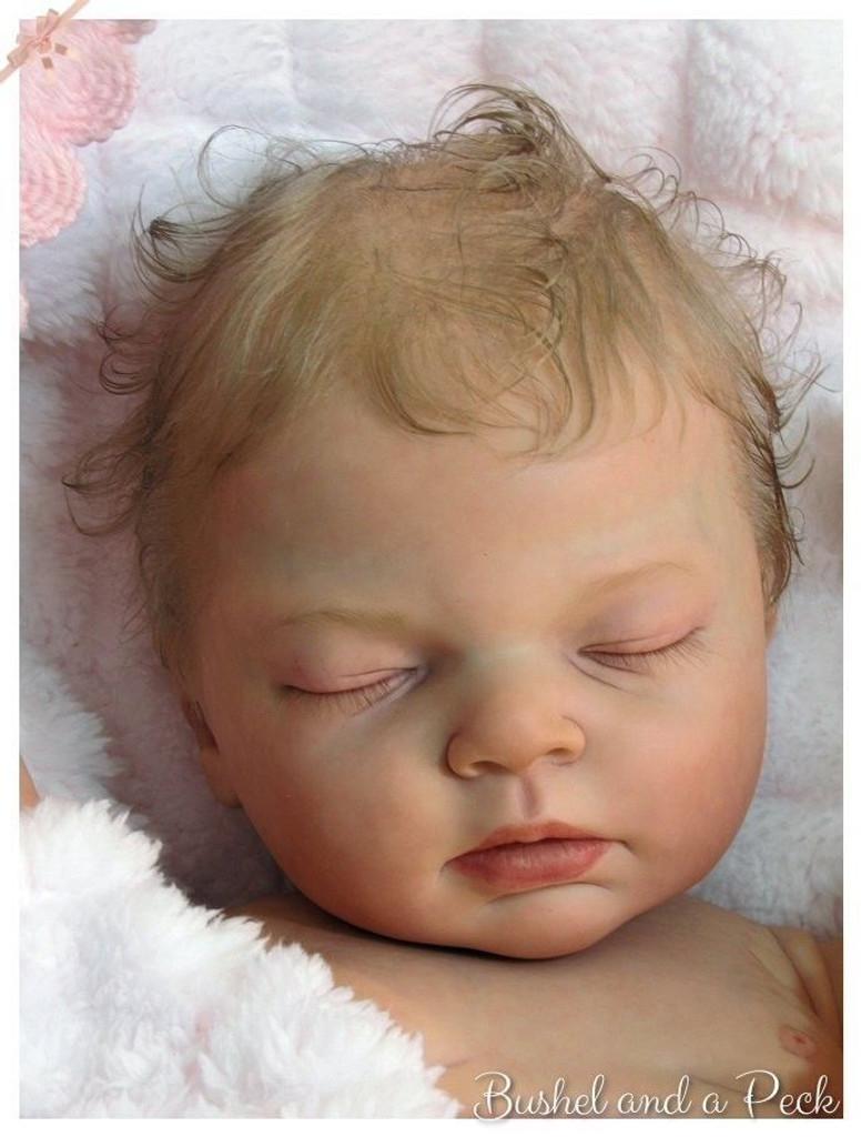 Indra Asleep Reborn Vinyl Doll Kit by Reva Schick