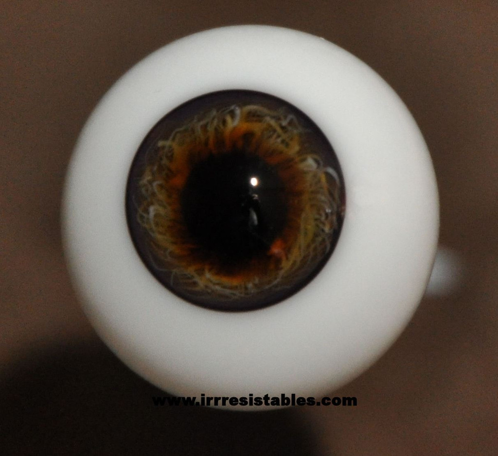 German Glass Eyes: Full Round Dark Hazel #3