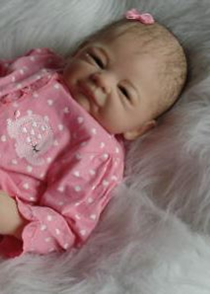Mila Reborn Vinyl Doll Kit by Sheila Michael with Closed Hands