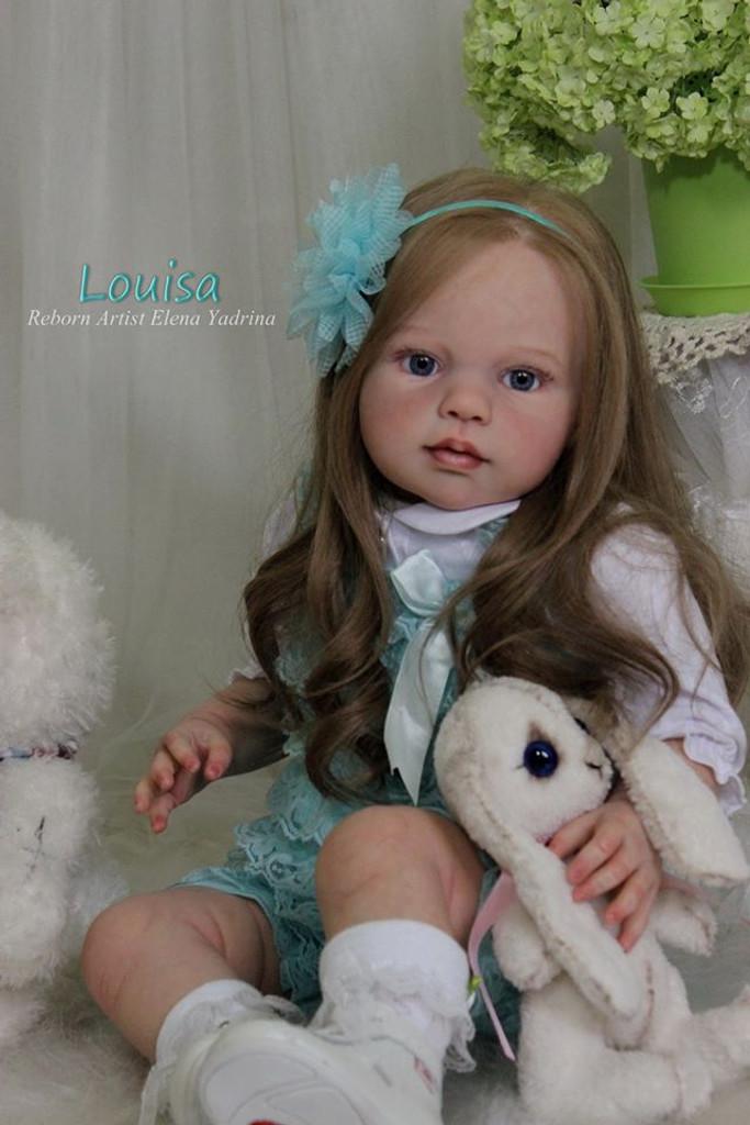 Louisa Reborn Vinyl Doll Kit by Jannie De Lange