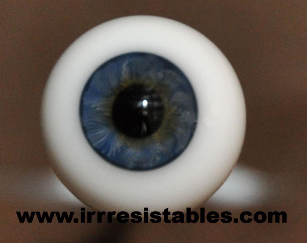 Newborn Dark Blue 16 mm Half Round Real Eyes ~ REBORN  DOLL SUPPLIES