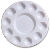 Plastic Palette Tray with 10 Wells & Large Center Well
