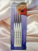 Silver Brush Ultra Mini Brush Set of 4 Brushes Ultimate Round UMS-2455S