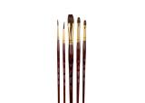 Natural Hair Brush Set - 5 Pieces
