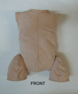 "Doe Suede Body for 22-24"" Dolls Full Unjointed Arms 3/4 Jointed Legs #1630"