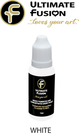 Ultimate Fusion All in One Air Dry Paint White 12ml Bottle (.4 ounce)