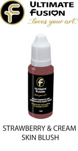 Ultimate Fusion All in One Air Dry Paint Strawberry & Cream skin Blush 12ml Bottle (.4 ounce)