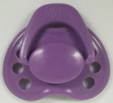 "HoneyBug Sweetheart Newborn Pacifier for 18"" Dolls-Violet"
