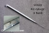 Heavenly Illusions Coated German Rooting Needle White 42 Gauge 3 Barb